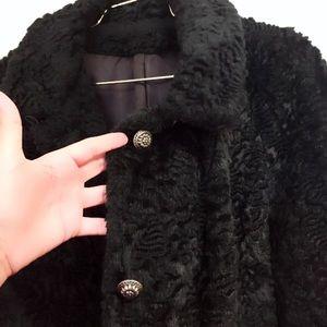 Vintage Black Persian Lamb Fur Coat Stunning